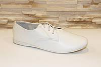 Туфли белые женские на шнурках Т704 р 39