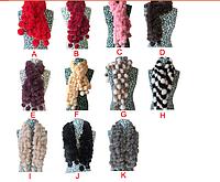 Женский шарф из кролика цветной
