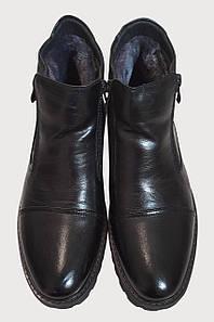 Ботинки зима мужские мех на молнии черные