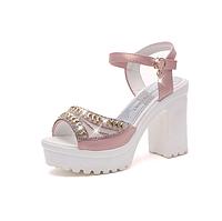 Босоножки женские розовые на каблуке Б876 р 38