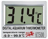 Наружный аквариумный термометр кт-500, не требует погружения, выбор единицы измерения, питание от батарейки