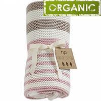 Детский плед. Детское одеяло из органического хлопка (Розовый), Natures Purest