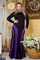 Женское вечернее длинное платье в пол (батал)