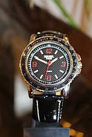 Наручные мужские кварцевые часы с черным ремешком код 11