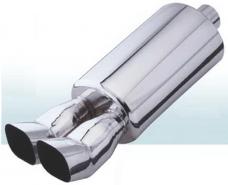 Прямоточный глушитель CarEx, 597 мм , d=63,5 мм