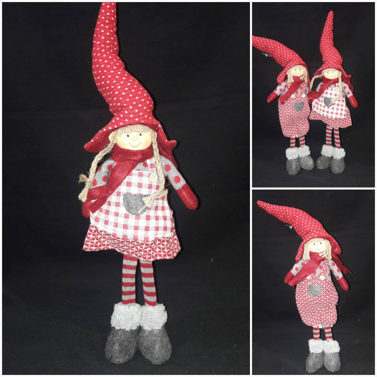 Авторская шитая игрушка - девочка в колпаке и ботах, выс. 40 см., 320/290 (цена за 1 шт. + 30 гр.)