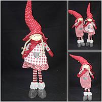 Авторская шитая игрушка - девочка в колпаке и ботах, выс. 40 см., 320/290 (цена за 1 шт. + 30 гр.), фото 1