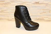 Ботиночки женские черные на каблуке Д481 р 37,40,41