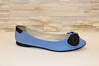 Балетки женские голубые с черным Т722 р 36,37,38 36