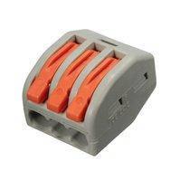 3-контактный клеммник (коннектор) для соединения проводов