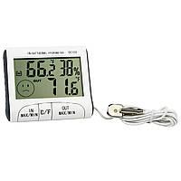 Домашний термометр/гигрометр dc-103, с наружным термодатчиком, индикация комфортности климата, 1*1,5в