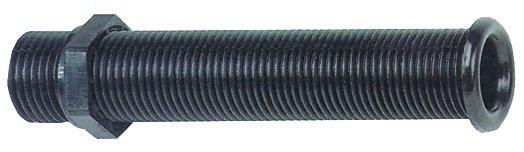 Горловина водоотливная 22.7x150мм, черная
