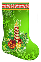 Зеленый сапожок схема для бисера новогодняя