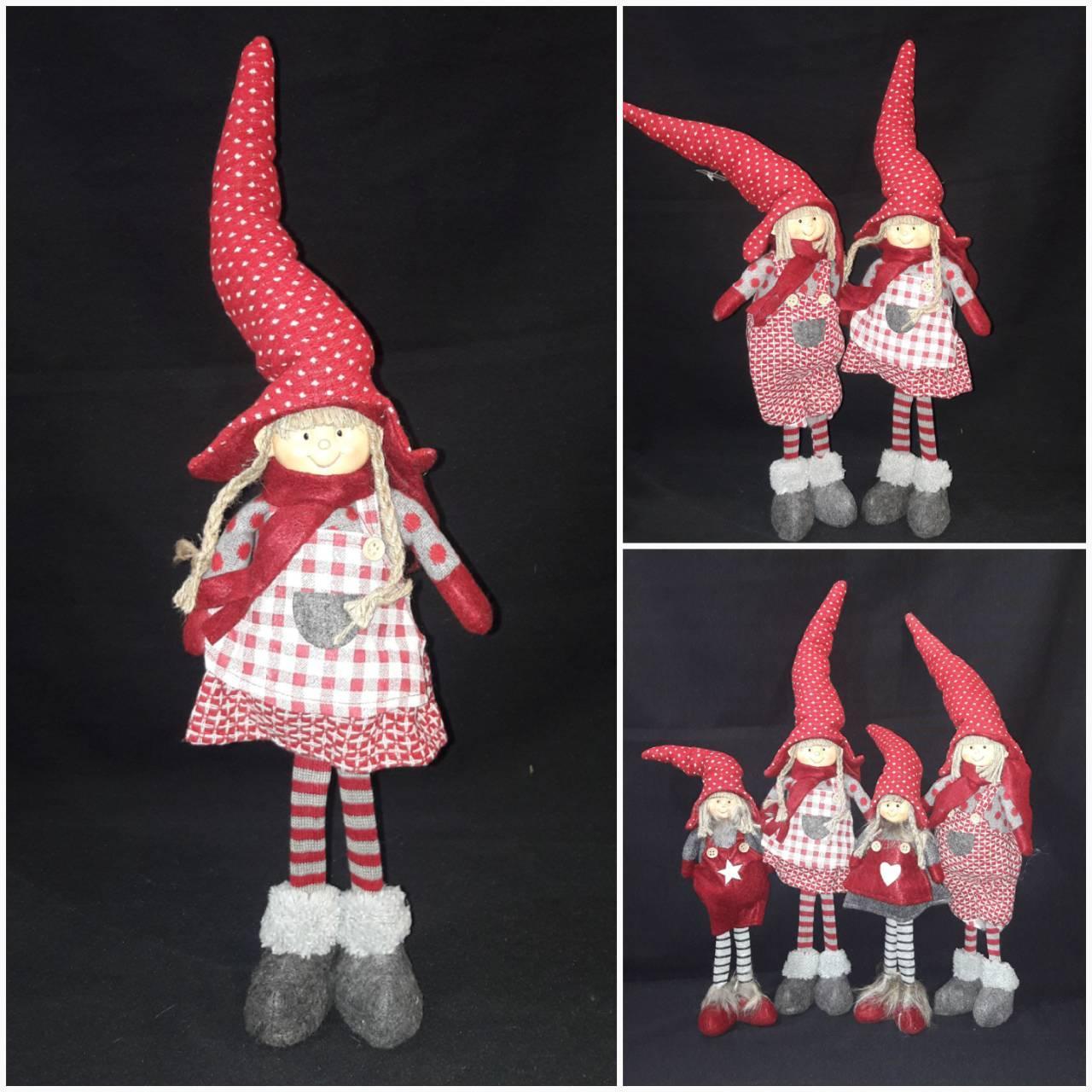 """Модная шитая игрушка """"Девочка в колпаке"""", выс. 38 см., 300/260 (цена за 1 шт. + 40 гр.)"""