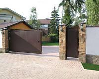 """К-т калитки DoorHan """"Собери Сам» №1 коричневый RAL8014 (1220x2200)"""