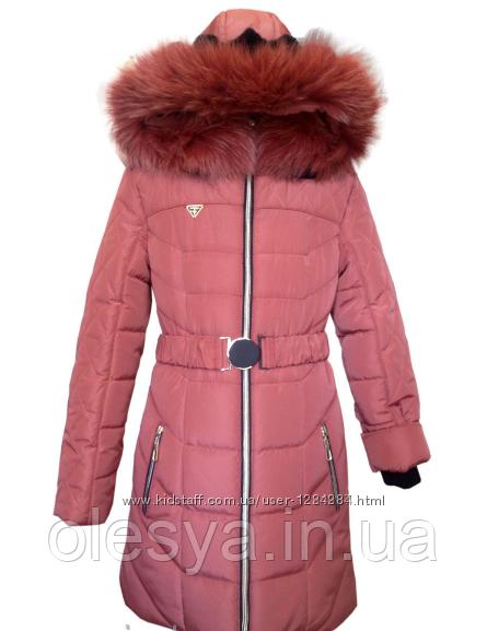 Детский пуховик пальто зимнее на девочку размеры 40,  42