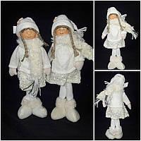 Эксклюзивная шитая игрушка - девочка в вязаной одежке и меховых сапогах, 32 см., 280/240 (цена за 1 шт.+ 30гр)