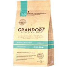Grandorf (Грандорф)  Living Probiotics 4 Meat & Brown Rice Indoor 4 вида мяса для взрослых кошек, 6 кг
