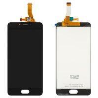 Дисплей для мобильного телефона Meizu M5c, черный, с сенсорным экраном