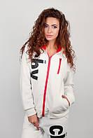 Кофта спортивная женская с капюшоном AG-0002585 Молочный