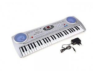 Детское пианино-синтезатор SD-5490 с микрофоном (детский музыкальный инструмент) Royaltoys Белый
