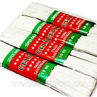 """Резинки бельевые """"Турция"""" (7m/4шт) белые, тесьма эластичная полиэстер"""