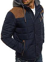 Мужская зимняя куртка коричнево-синяя, фото 3