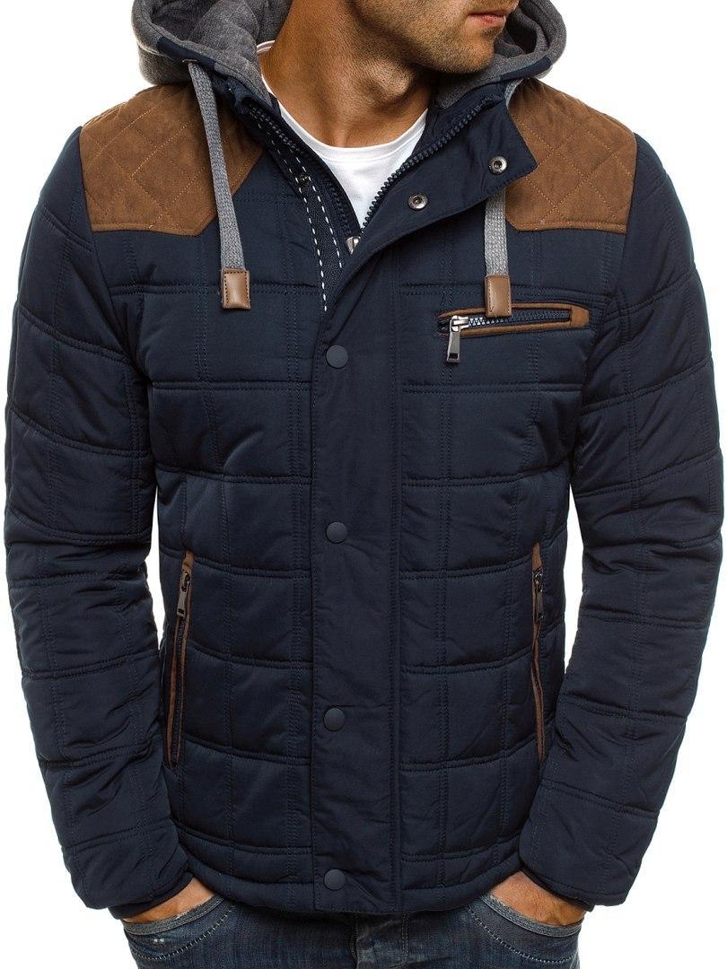 Мужская зимняя куртка коричнево-синяя