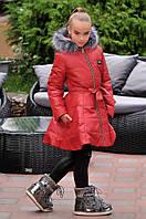Куртка пальто зимнее на девочку, расклешенное