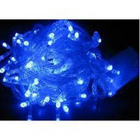 Гирлянда светодиодная на 200 LED синяя, (прозрачный провод)