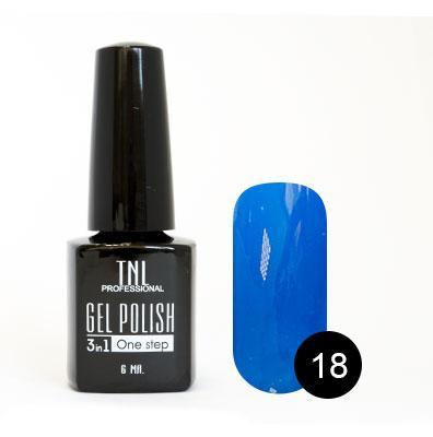 Однофазный гель-лак TNL, № 18 (сапфир), 6мл