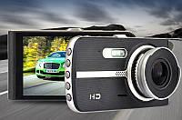 Видеорегистратор T 653, 2 камеры, FULL HD, металл