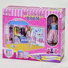 Кукла Anlily с мебелью Гардеробная комната