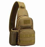 Маленький военный рюкзак коричневый, фото 1