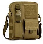 Тактическая сумка на плечо (хаки)