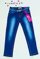 Очаровательные джинсы  для девочки на рост 134 см