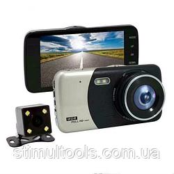 Відеореєстратор T 652, 2 камери, FULL HD, метал