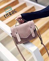 Женская маленькая сумка через плече цвета Пудры