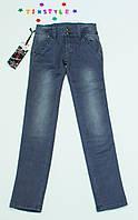Очаровательные джинсы  для девочки на рост 140-152 см, фото 1