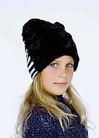 Зимняя стильная шапка для девочки DH, размер 54 см