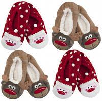 Домашняя обувь Рождественские для девочек и женщин флис
