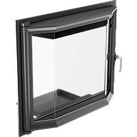 Призматические дверцы для камина Kratki Amelia 607х750 мм, фото 1