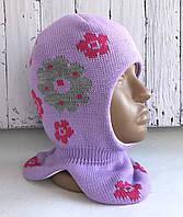 Шапка-шлем (капор) для девочки Квитка, размер 50-52 см