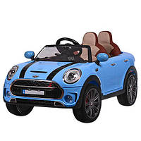 Машина M 3595EBLR-4 радіокер., 2,4G, 2 мотори 35W, 12V10A, колеса EVA, шкіряне сидіння, синій