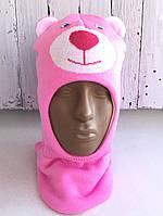 Шапка-шлем (капор) для девочки Михасик, размер 48-50 см