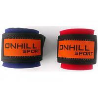 Напульсник на руку неопреновый, спортивный (фиксатор для запястья, кисти) Onhillsport Soft (OS-0374)