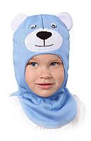 Шапка-шлем (капор) для мальчика Михасик, размер 46-48 см