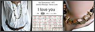 """Бусы с секретным сообщением  """"I love you"""". Morse Code Necklace"""