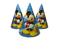 Колпак детский праздничный картонный Микки Маус (упаковка 20шт.)