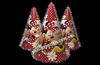 Колпак детский праздничный картонный Мини Маус (упаковка 20шт.)